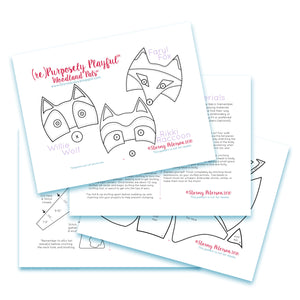 Woodland Pals™ PDF Sewing Pattern - (re)Purposely Playful™