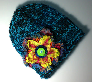 Turquoise Noise Slim Fit Hat