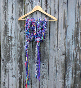 Braided Lariat Scarf - Electric Purple
