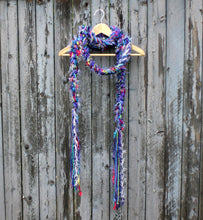 Load image into Gallery viewer, Braided Lariat Scarf - Electric Purple