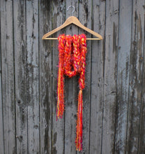 Load image into Gallery viewer, Braided Lariat Scarf - Tangerine