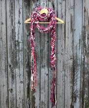 Load image into Gallery viewer, Braided Lariat Scarf - Mulberry