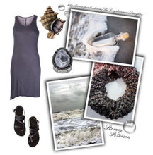 Load image into Gallery viewer, Karma Glitter Scarf Stormy Beach