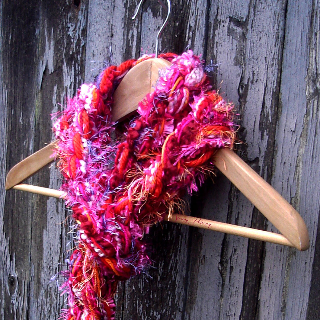 Braided Lariat Scarf - Heart Throb