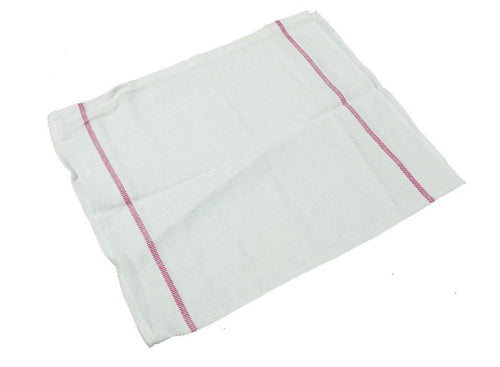 Red Stripe Herringbone Towel