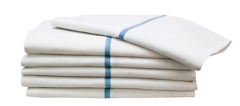 Blue Stripe Herringbone Towel