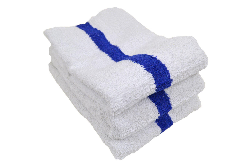 Value Blue Center Stripe Towel 8.00 lb