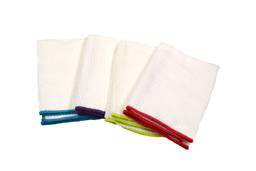Microfiber Ribbed Colored Border Dish Towel