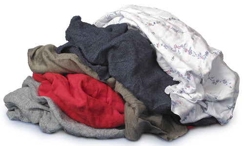 Pro-Clean Basics Reclaimed:  Pre-Washed Recycled/Reclaimed Colored T-Shirt Rags