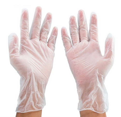 Disposable PVC Vinyl Gloves:  Box of 100