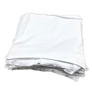 Pro-Clean Basics: Premium Smooth Jersey Die Cut 16in x 16in White T-Shirt Rags