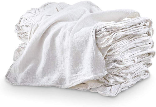 Pro-Clean Basics: Sanitized Anti-Bacterial Woven Wiping Cloth Rags - White
