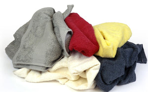 Pro-Clean Basics:  Sanitized Anti-Bacterial Terry Cloth Rags - Colored