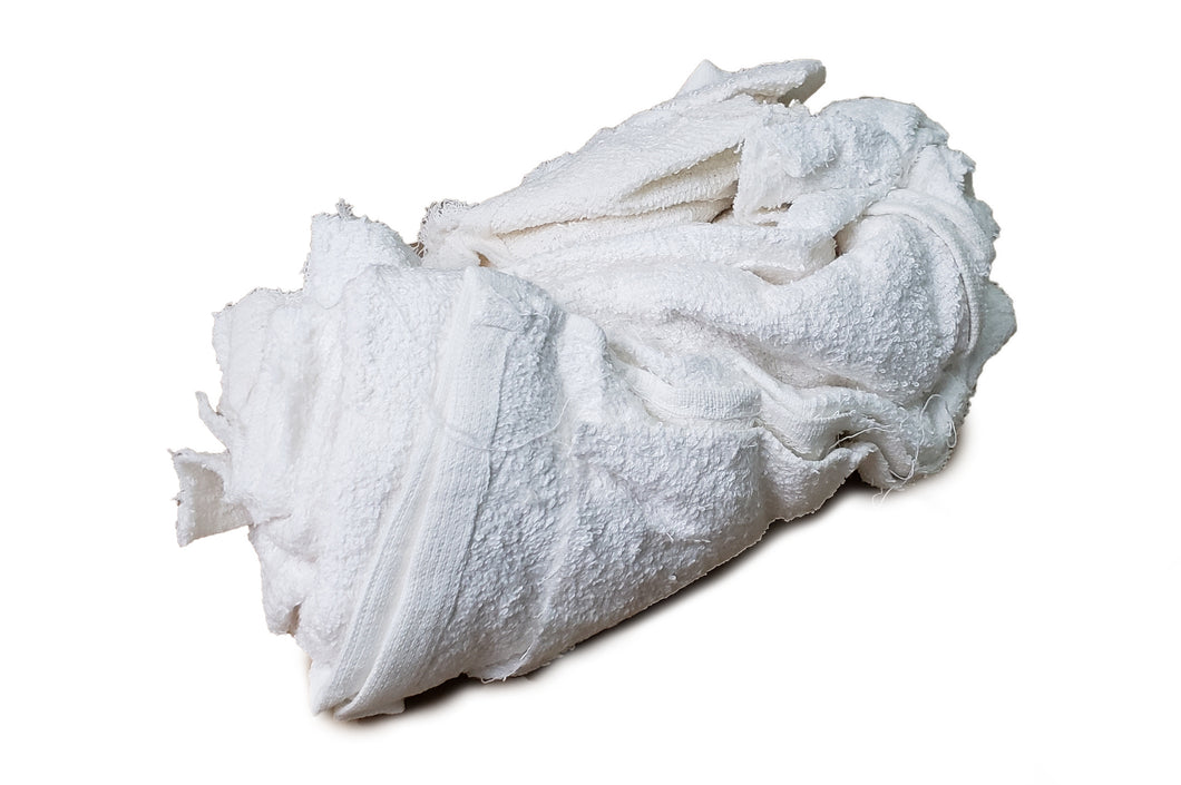 Pro-Clean Basics:  New White Terry Cloth Rags