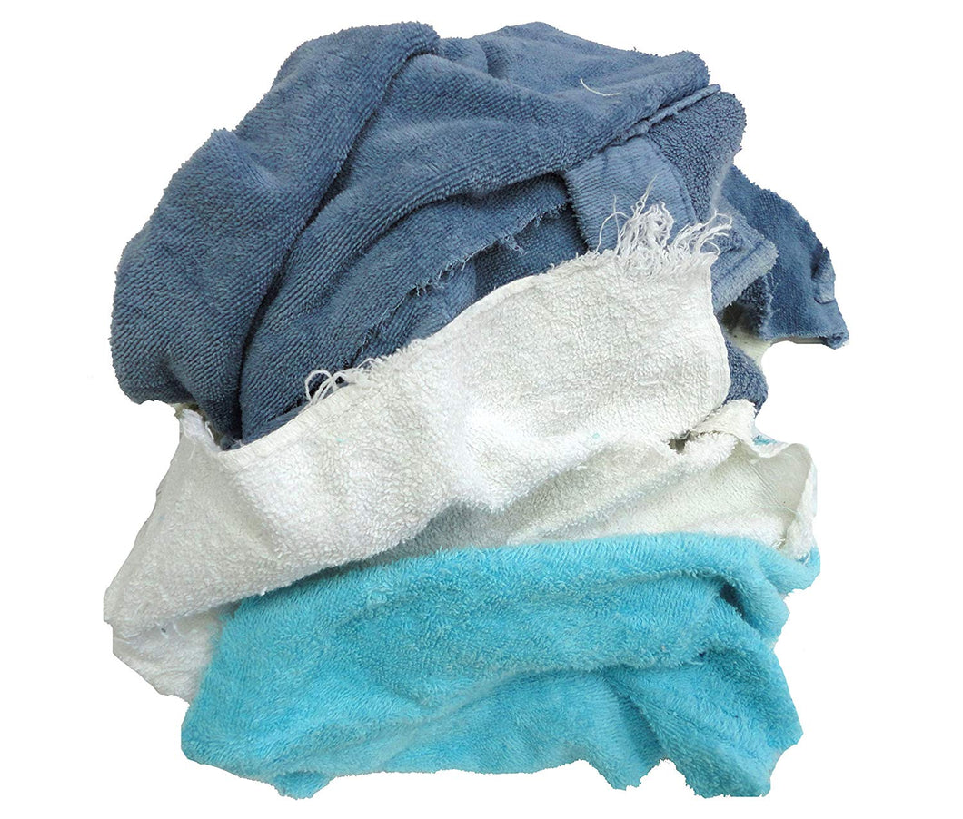 Pro-Clean Basics:  Pre-Washed Reclaimed Colored Terry Cloth Rags