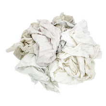 Load image into Gallery viewer, Pro-Clean Basics Reclaimed:  Recycled/Reclaimed White T-Shirt Rags
