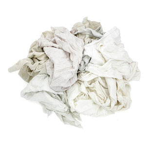 Pro-Clean Basics Reclaimed:  Recycled/Reclaimed White T-Shirt Rags