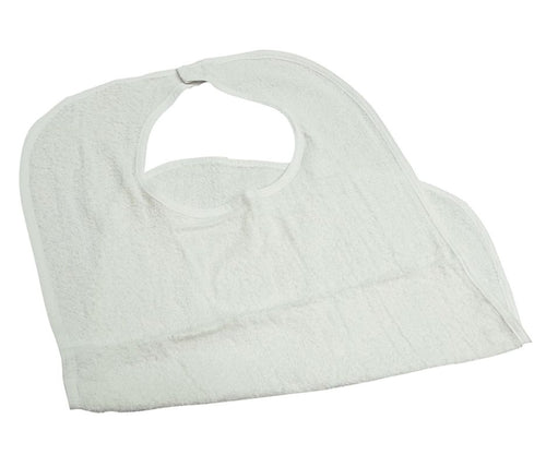 Healthcare Basics Bib 3.5 lb. White with Velcro Closure