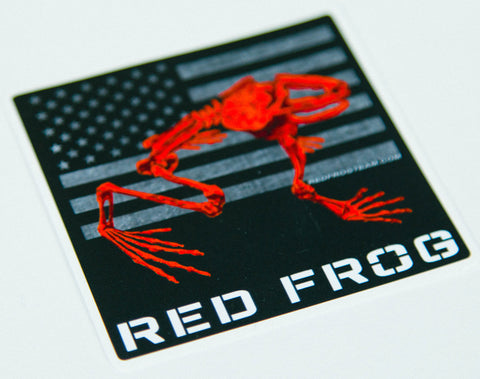 Red Frog Vinyl Stickers (2 Pack)