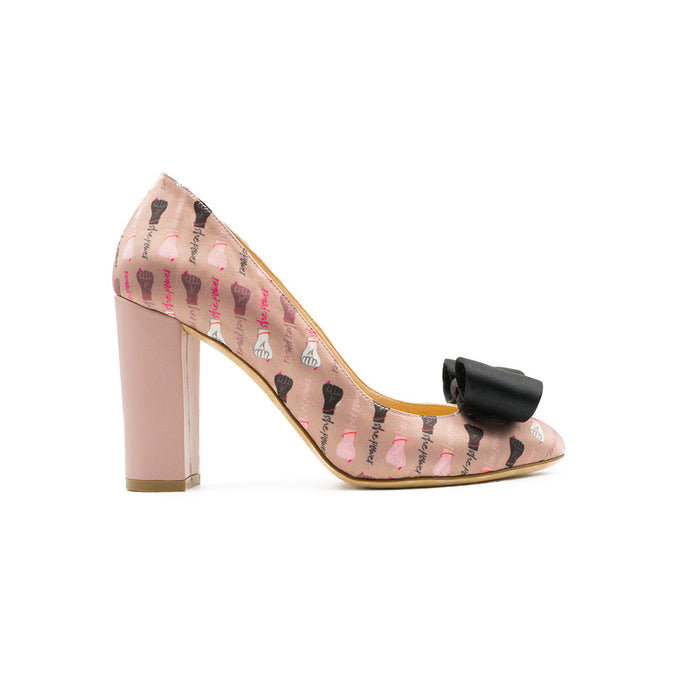Arianne Pump with Bow Power Fist Print