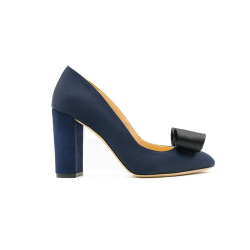 Arianne Pump with Bow Power Navy