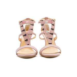 Amina High Heeled Sandal Rose Print
