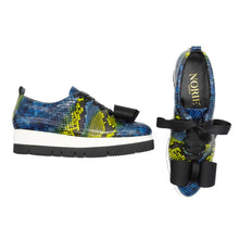 Load image into Gallery viewer, Zeno Python Skin with Bow Sneakers