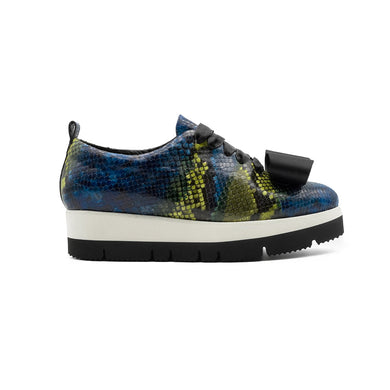Zeno Python Skin with Bow Sneakers