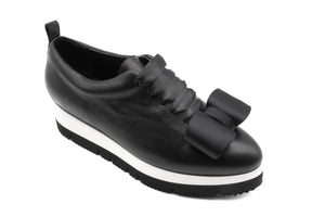 Zeno with Bow Black Sneakers