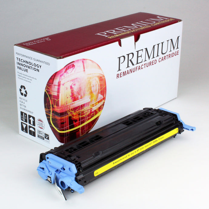 HP 124A Q6002A Reman Yellow Toner 2K