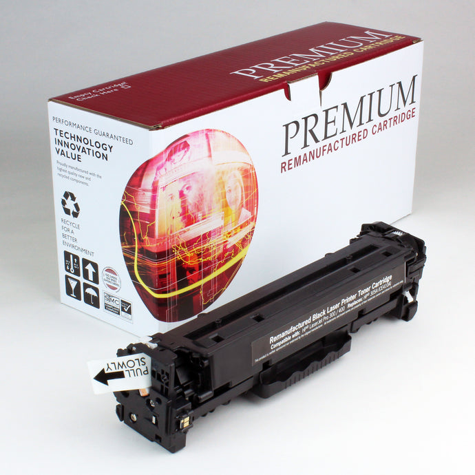 HP 305A CE410A Reman Black Toner 2.2K