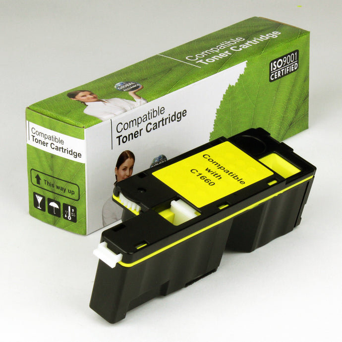 Dell C1660 Comp Yellow Toner 1K