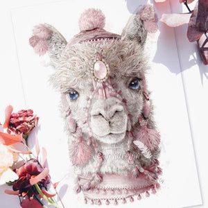 Alpaca art print by illustrator Carlie Edwards