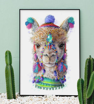 Alpaca / Llama Print - Spirit Animal Series