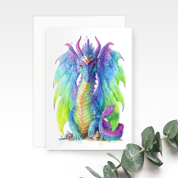 Mystic Dragon Greeting Card
