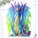 Colourful Dragon Art Print