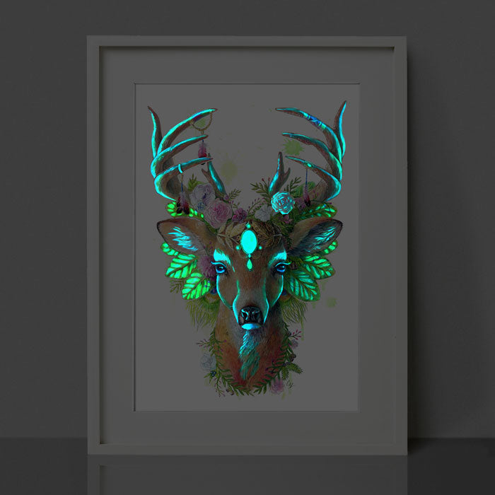 Glow in the Dark Deer Print