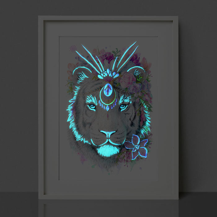 Glow in the Dark Tiger Print