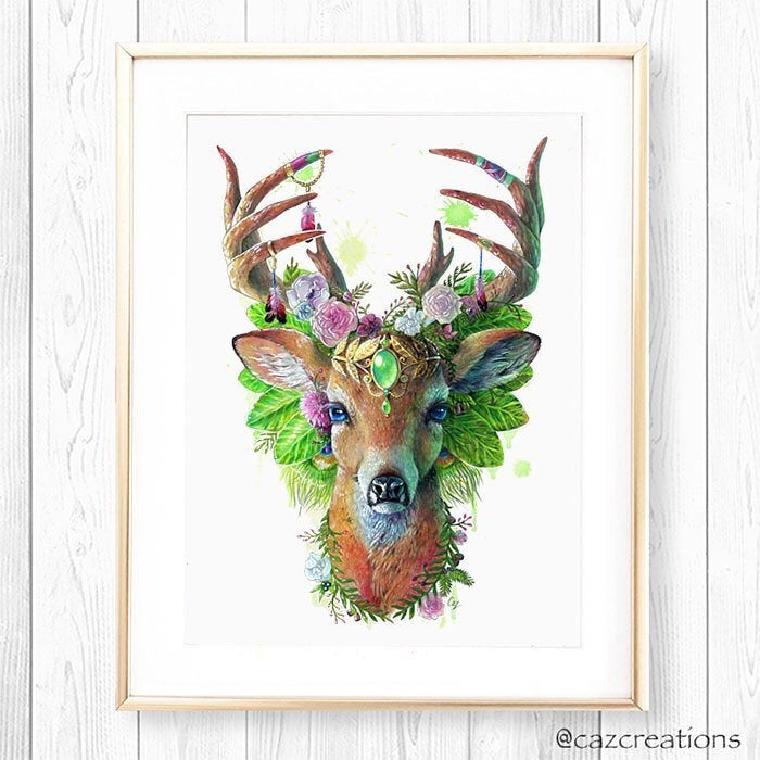 Deer Print - Spirit Animal Series