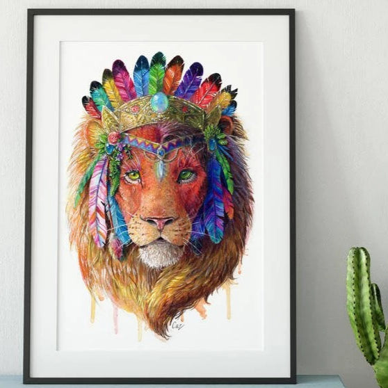Lion Print - Spirit Animal Series
