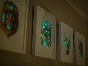 Glow in the Dark Wolf Print