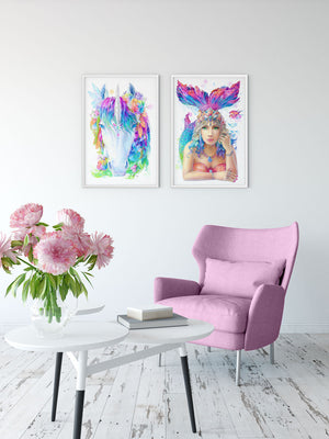 Mermaid Art Print - Mystic Series