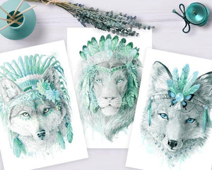 Mint Fox Art Print