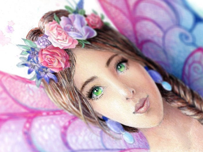 Rainbow Fairy Art Print