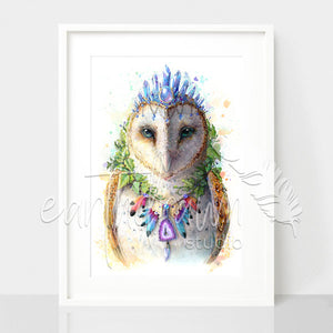 Bohemian Owl - Spirit Animal Series