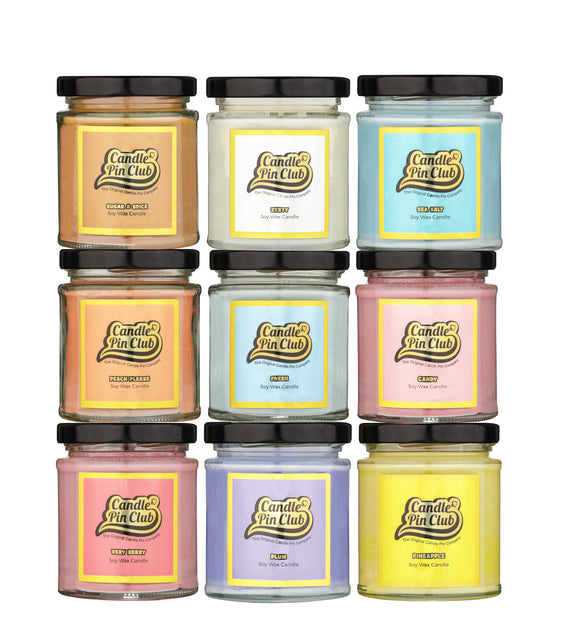 enamel pin soy candles