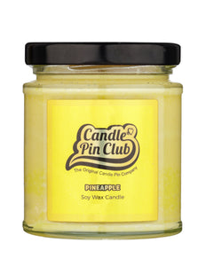 PINEAPPLE: Soy Wax Candle with Enamel Pin.