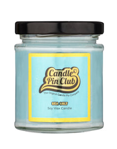 SEA SALT:  Soy Wax Candle with Enamel Pin.
