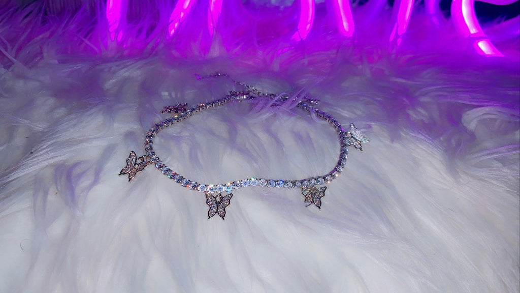 "BUTTERFLY ANKLET - ""LILY"""