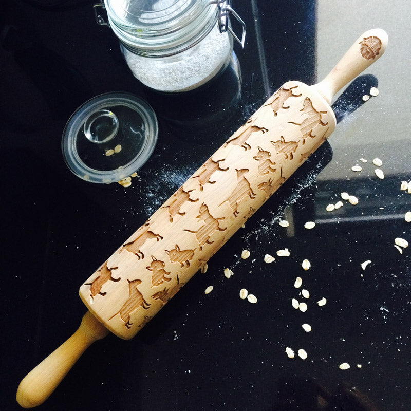 BULL TERRIER ROLLING PIN - pastrymade